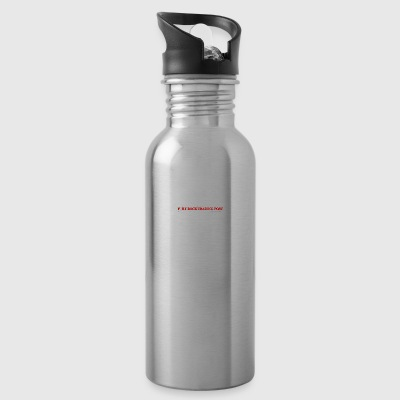 Fort Rock LOGO white red font - Water Bottle