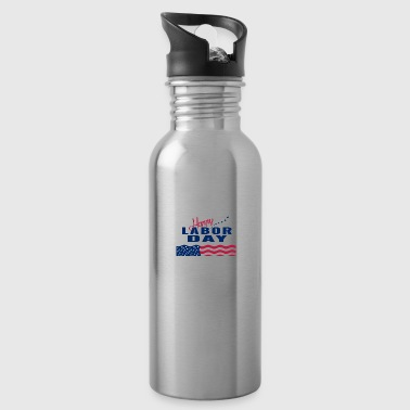 Happy Labor Day - Water Bottle