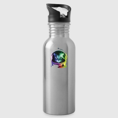 Funny Cat In Space T-Shirt - Water Bottle