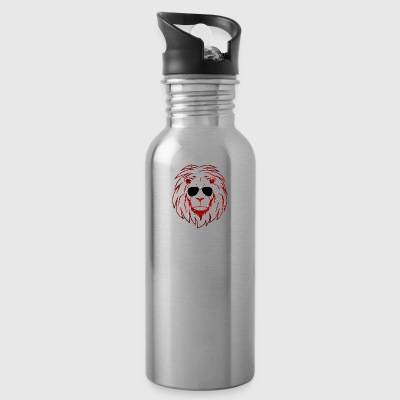 Lion with sunglasses - Water Bottle