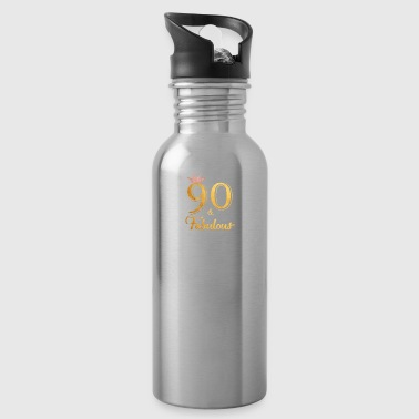 90 Fabulous Queen Shirt 90th Birthday Gifts - Water Bottle