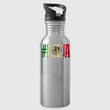 Cool Hija Gift Mexican Shirt For Mexican Flag Shirt for Mexican Pride Vintage Flag - Water Bottle