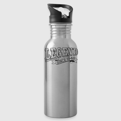 Funny Happy Birthday Shirt Legend Since 1948 - Water Bottle