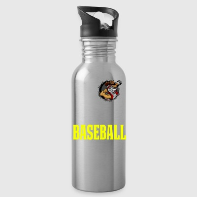 Cool Baseball T Shirt God Family Baseball - Water Bottle