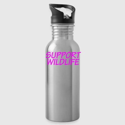 Funny Shirt For Mom of a Teenager Support Wildlife - Water Bottle