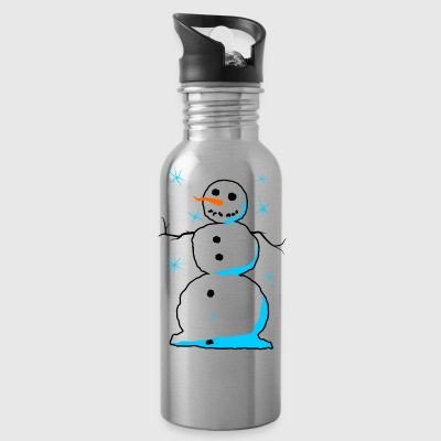Sweet snowman with carrot nose coal mouth - Water Bottle