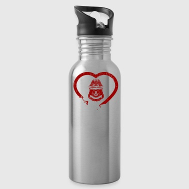 Be My Valentine Border Patrol Has My Heart - Water Bottle