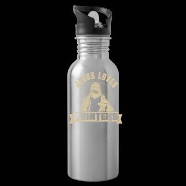 Jesus Loves Dogs Pointers Dog Lover Gift - Water Bottle