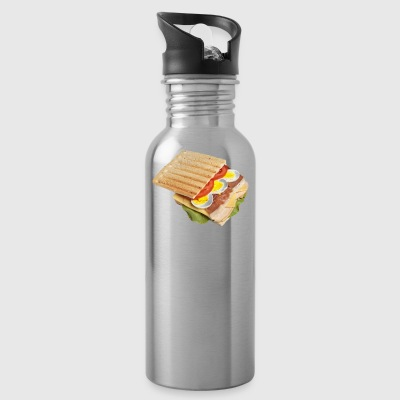 sandwich toast toaster breakfast fruehstueck18 - Water Bottle