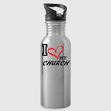 I_LOVE_MY_CHURCH - Water Bottle