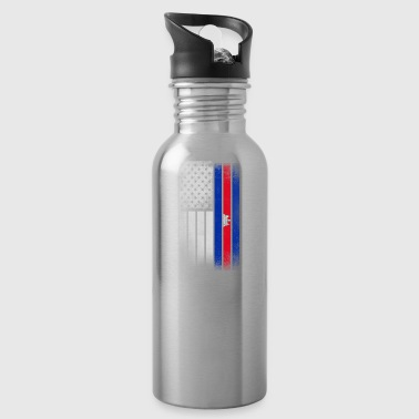 Cambodian American Flag - Water Bottle