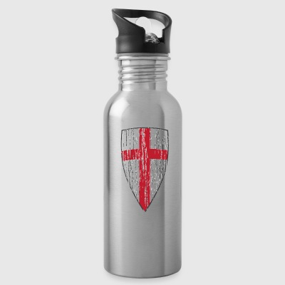 Crusader Shield Flag - Water Bottle