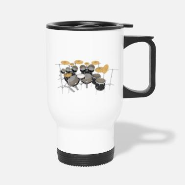 Ludwig Black Drum Kit - Travel Mug