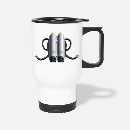 Nasa Mugs & Drinkware - rakete rocket space shuttle ufo raumschiff mond mo - Travel Mug white