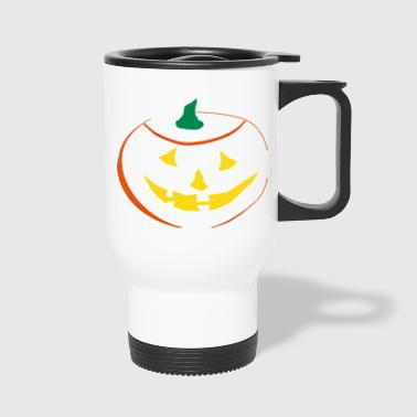 Halloween Pumpkin 3 color vector - Travel Mug