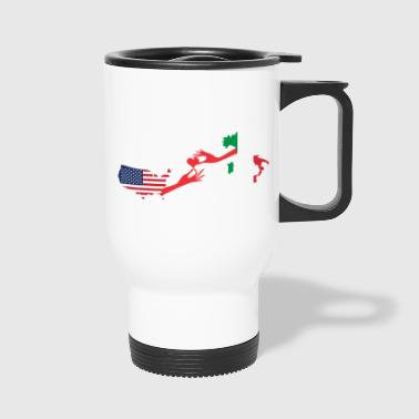 Mother & Son Love Knows No Distance US & Italy - Travel Mug