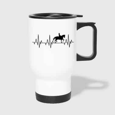 Heartbeat Horses Riding Harness Racing Equitation - Travel Mug