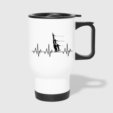 Water Sports Heartbeat Water Ski Water Sports - Travel Mug
