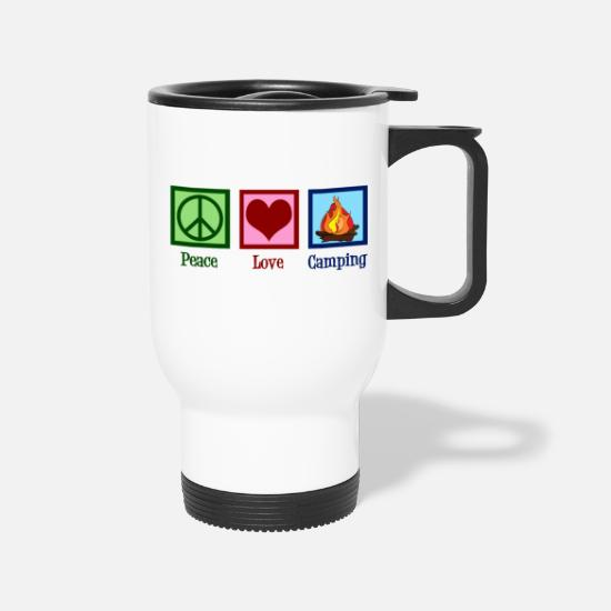 Peace Mugs & Drinkware - Peace Love Camping - Travel Mug white