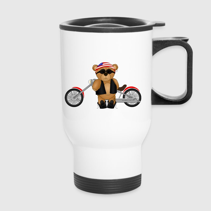 Teddy Bear Biker - Travel Mug