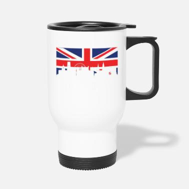 Nottingham Flag British Flag Nottingham Skyline - Travel Mug
