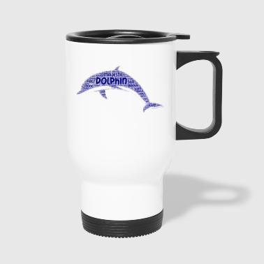 Dolphin Word Art - Travel Mug
