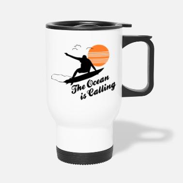 Wave Surf Shirt · Waves Love · Ocean Gift - Travel Mug