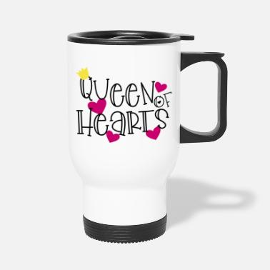 Hearts Apart Queen of Hearts - Travel Mug