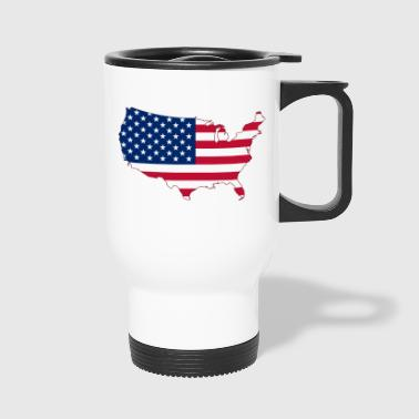 Tee shirt USA Flag - Travel Mug
