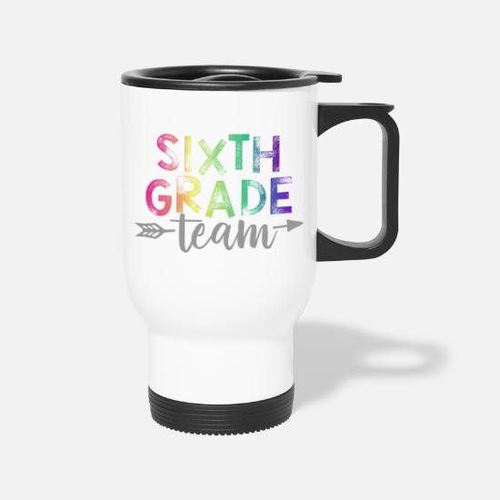 Arrow Mugs & Drinkware - Sixth Grade Team Teacher T-Shirts Rainbow - Travel Mug white