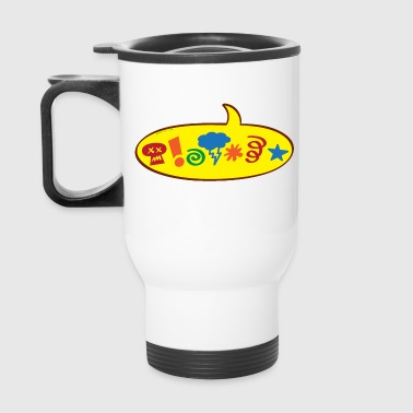 Cursing bad words speech balloon - Travel Mug