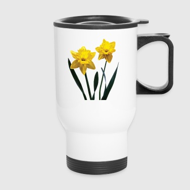 Yellow Daffodil Pair - Travel Mug