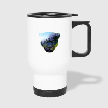 Panther Head Double Exposure - Travel Mug
