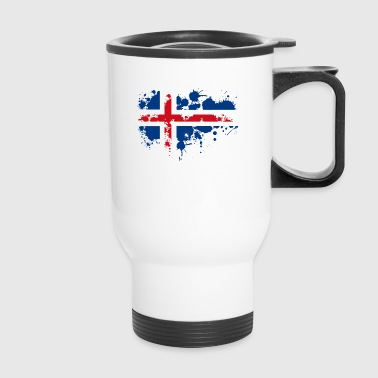 flag norwegian splash Europe scandinavia - Travel Mug