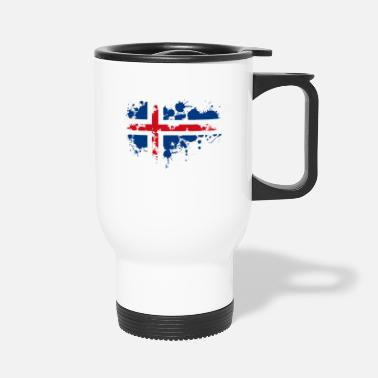 Scandinavia flag norwegian splash Europe scandinavia - Travel Mug