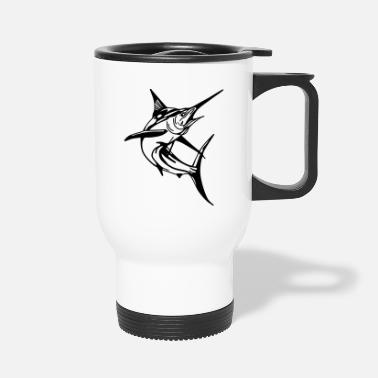 Predatory Fish Marlin, Swordfish, Shark, ✔ - Travel Mug