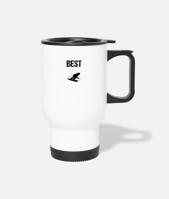Winter Sports Mugs & Drinkware - Best Snowboarder Boarder - Travel Mug white