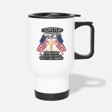Fighter Jet I Didnt Fight Because I Hated T Shirt Gift - Travel Mug