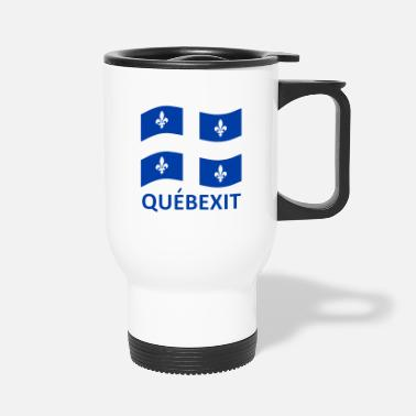QUEBEXIT WAVING FLAG - Travel Mug