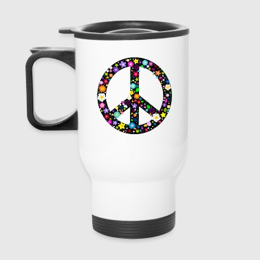Floral Peace Sign - Travel Mug