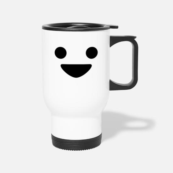 Happy Mugs & Drinkware - A Happy Face - Travel Mug white