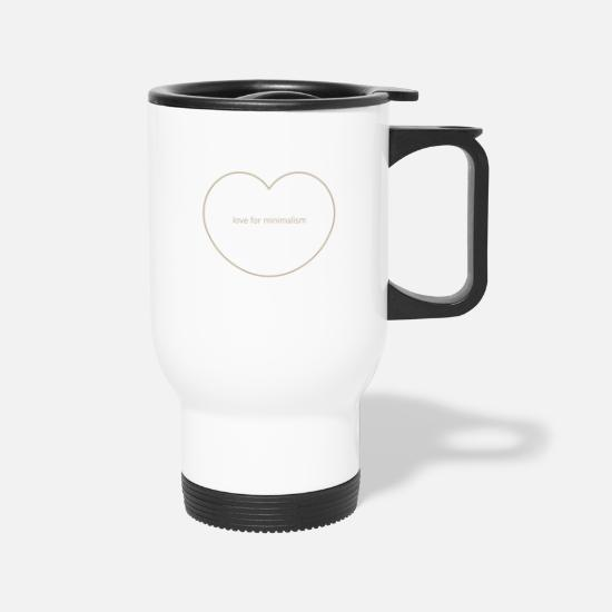 Minimalism Mugs & Drinkware - Love for Minimalism - Travel Mug white