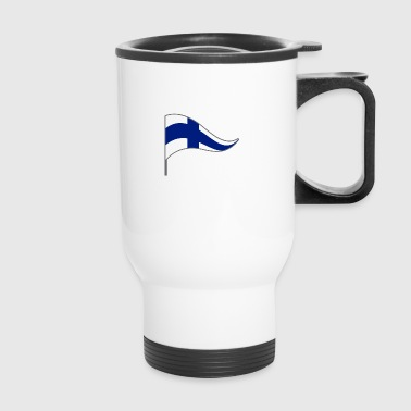 Finland Helsinki scandinavia Flag Banner Flags - Travel Mug