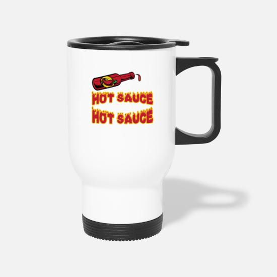 Retirement Mugs & Drinkware - I Put Hot Sauce On My Hot Sauce T-Shirt - Travel Mug white