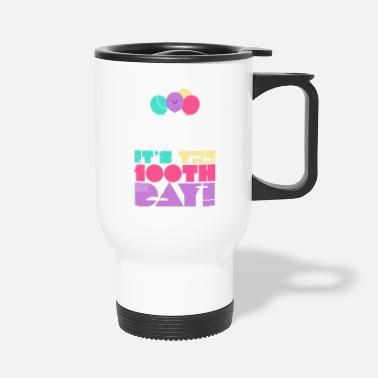 Cute Colorful Up and Away Balloon 100 Days of Scho - Travel Mug