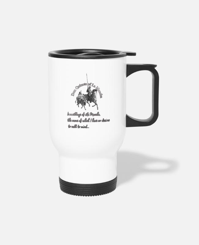 Don Quijote Mugs & Cups - Don quijote Gustave Doré - Travel Mug white