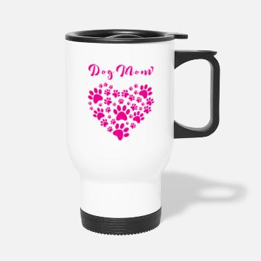 Dog Mom dog mom Dog breed, mom, dog - Travel Mug