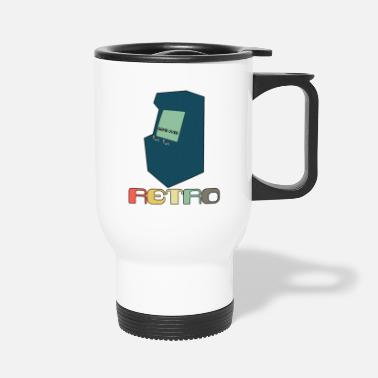 Gaming Retro Arcade Style Gaming - Travel Mug