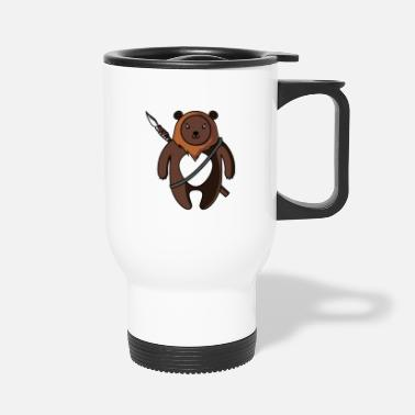 Spear Bear with Spear - Travel Mug