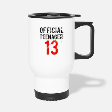 Teenager Official Teenager Black Red 13 Birthday - Travel Mug